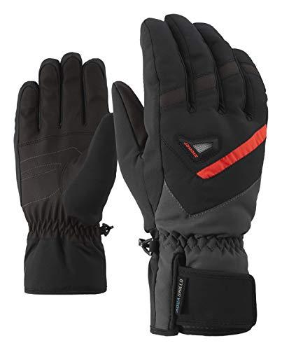 Ziener Herren GARY AS glove ski alpine Ski-handschuhe / Wintersport | wasserdicht, atmungsaktiv, schwarz (black/graphite), 8.5