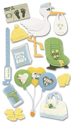 Jolee's Boutique Dimensional Stickers-Baby - Bringing Baby Home