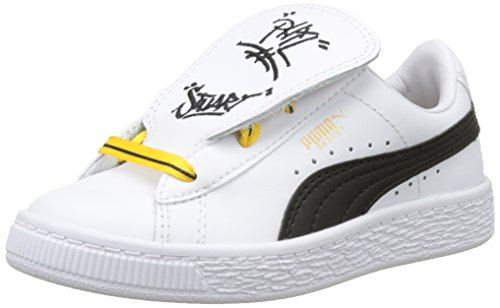 Puma Minions Basket Tongue PS, Sneakers Basses Mixte Enfant