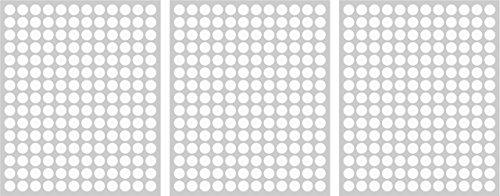 540adhesivos, 12mm, color blanco, funda de PVC, resistente a la intemperie, LabelOcean círculos puntos Pegatinas