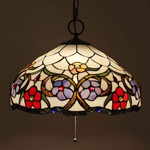 Led Tiffany Style Chandelier stained Glass Pantallas Plafón Europea Retro Salón decoración...