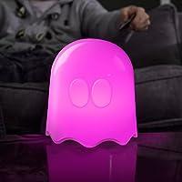 Pac-Man, Lampada a forma di fantasmino, Bianco (White), ø 18 cm, altezza 20 cm