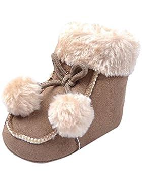 Happy Cherry Babyschuhe Winter Stiefel Kids Unisex Mädchen Jungen Baumwolle Lauflernschuhe 11-13cm Länge Schnee...