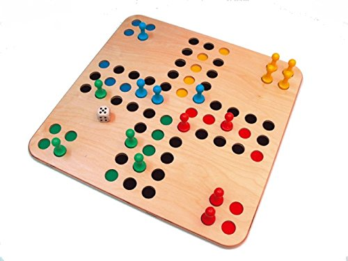 Ärger im Quadrat, Holzbrettspiel im XXL Format von 48 x 48 cm (Z172)