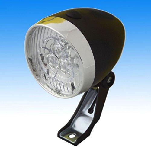 Fahrrad Lampe 3 LED Frontlicht Scheinwerfer Retro Licht