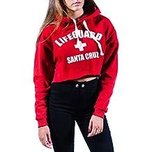 Sudadera roja Lifeguard con capucha de moda para chica Uissos Talla única de mujer