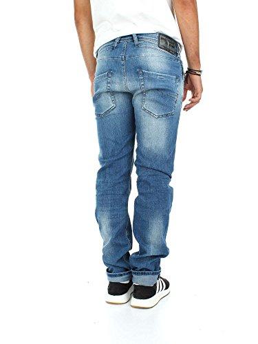 Diesel Herren Tapered Fit Jeans Blau