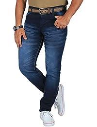 L,Zard Men's Stretchable Fabric Light Blue Slim Fit Jeans