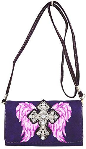 Blancho Biancheria da letto delle donne [Antico Castello] PU Leather Bag Set Elegante Portafoglio Hanbag Comobo Fashion Bag viola Wallet-Viola Venta Barata Disfrutar B8AvB