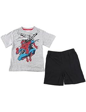 Spiderman - Jungen Shorty Pyjama Set - Shorts und T-Shirt