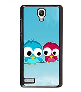 Pair of Birds on a Wire 2D Hard Polycarbonate Designer Back Case Cover for Xiaomi Redmi Note :: Xiaomi Redmi Note 4G