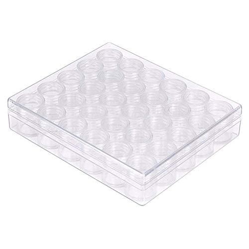 Kurtzy Boîte de Rangement Récipients Translucides - 30 Pots pour les Loisirs Créatifs et Artistiques, nail art paillettes Boîte - Boîte Plastique Transparent avec Pots Amovibles Style Compartiments