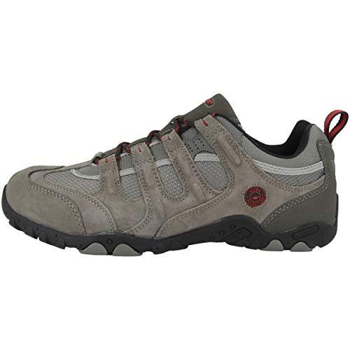 Hi-Tec Quadra Classic o005551, Scarpe Basse da Trekking e Passeggio Uomo, Grigio (Charcoal Grey/Black/Red), 48
