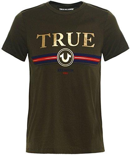 True Religion Herren Rundhals T-Shirt True Olive M