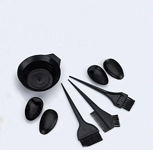 waymeduo Kamm Pinsel Bürste Schüssel für Haartönung Färbemittel décolorante Frisur Farbe zufällige