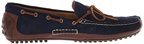 Polo Ralph Lauren Wyndings Leather Slip-on Mocassins Tan/Newport Navy