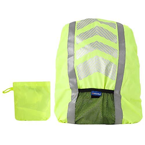 Girls\'love talk Premium Rucksack Regenschutz, Regenhülle Regenschutz für Schulranzen Schulrucksack Ranzen, Regenschutzhülle, Rucksackschutz mit Reflektorstreifen für Wandern, Camping, Radfahren(Grün)
