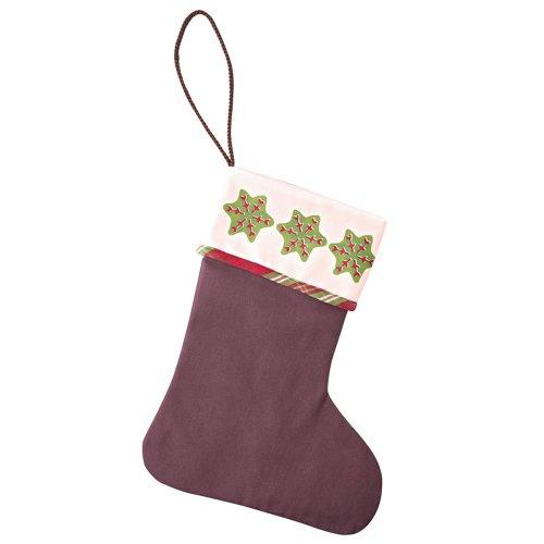 Hutschenreuther 02460-729130-05636 Weihnachtsleckereien Textil-Geschenk-Stiefel 27 x 36 cm, braun