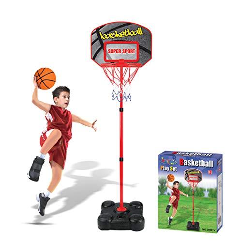 Forweilai Transportable Korbanlagen - Höhenverstellbar Basketballkörbe Backboards mit Ständer für Kinder