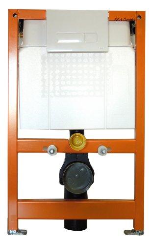 WC-Vorwandelement inkl. Betätigungsplatte, Wandbefestigung und Montagematerial