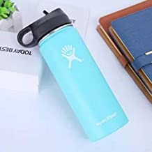 Water Bottle - Stainless Steel & Vacuum Insulated - Wide Mouth with One Straw Lid - Sky Blue 32OZ (943ML)