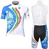 veinater hombre manga corta ciclismo Jersey y pantalones cortos en bicicleta babero Kit blanco/azul, hombre, color blanco, tamaño XXXL