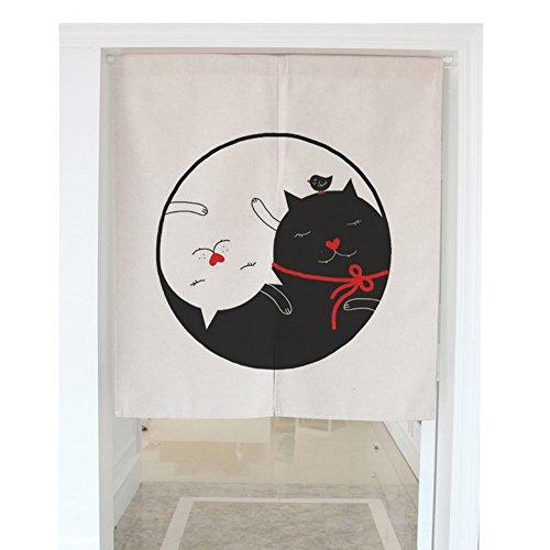 zegoo Baumwolle Leinen Animal Serie Noren Japanische Vorhang für Tür/Tür/Küche Tür, Baumwoll-Leinen, Aml03, 31.5