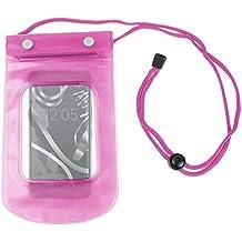 DURAGADGET Funda Impermeable Rosa Para Smartphone BQ Aquaris X5 Plus / E4 / E4.5 / E5s / E5 FHD - Perfecta Para Disfrutar Al Aire Libre