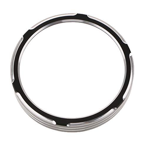 Homyl 1 Stück Tachoanzeige Zierring Schwarz Tachoanzeige Gehäuse Ring Motorräder, Ersatzteile Durchmesser: 85 mm / 3,35 Zoll