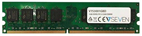 V7 V753001GBD Desktop DDR2 DIMM Módulo de memoria 1GB (667MHZ, CL5, PC2-5300, 240 polig, 1.8 Volt)