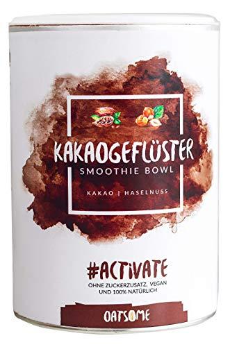Kakaogeflüster - NEU mit Haselnuss! Nährstoff Frühstück, 100% natürliche Zutaten -Lange satt mit nur 200kcal- Mahlzeitenersatz ohne Zusatzstoffe & raffinierten Zucker - Frucht-smoothie-drinks