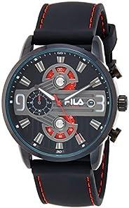 Fila Mens Quartz Watch, Analog Display and Leather Strap 38-175-001