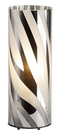 Brilliant 24547/15 Lampe à Poser E27 Métal/Plastique Chrome/Transparent 26 cm