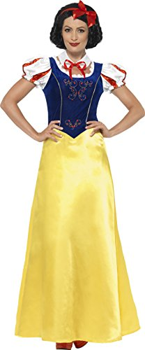 Smiffy' s–Costume da donna Princess Snow costume, abito, collo e fascia, Wings and Wishes, SERIOUS Fun, taglia: M, 24643