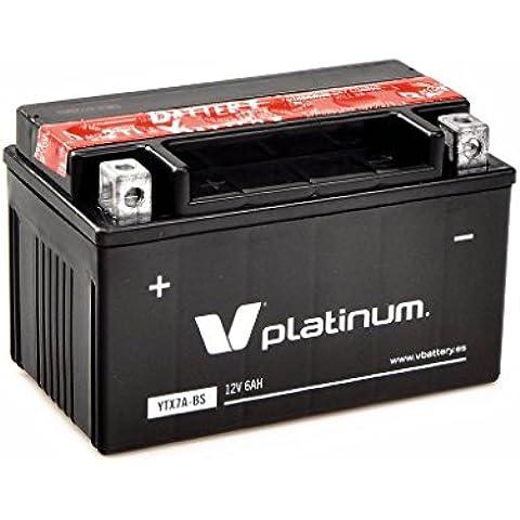 Batería moto YTX7A-BS YTX7A BS, V PLATINUM , 12 V 6 Ah