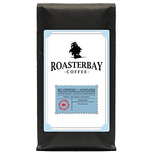 Roasterbay Espresso 1kg   Honduras   Premium - Ganze Bohne - Röstkaffee aus dem Hochland   dunkle...