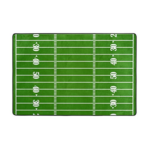 LUPINZ American Football Court Stadium Teppich Anti-Rutsch-Fußmatte Fußmatte Fußmatten für Wohnzimmer Schlafzimmer, Polyester, 1, 72 x 48 inch -