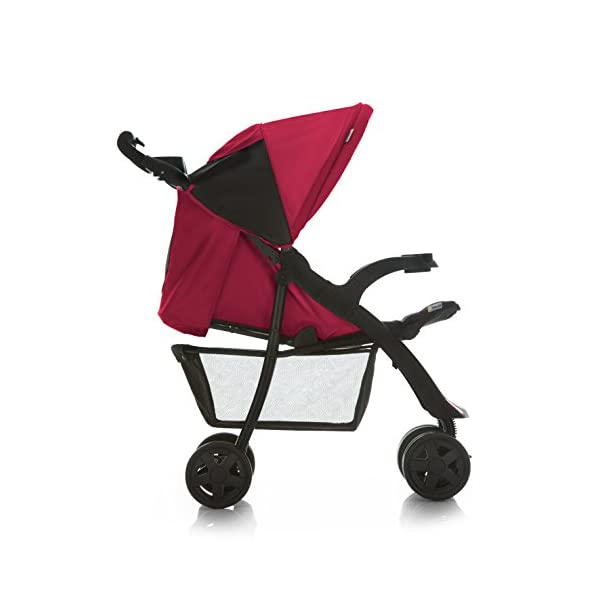 Hauck Shopper Neo II, Folding Pushchair from Birth to 25 kg, Lightweight with Lying Position, Two Cupholder Trays, One Hand Fold, Caviar/Tango Hauck Fold in seconds with one hand Comfortable seat with lying position and adjustable footrest Includes 2 practical bottle trays 6