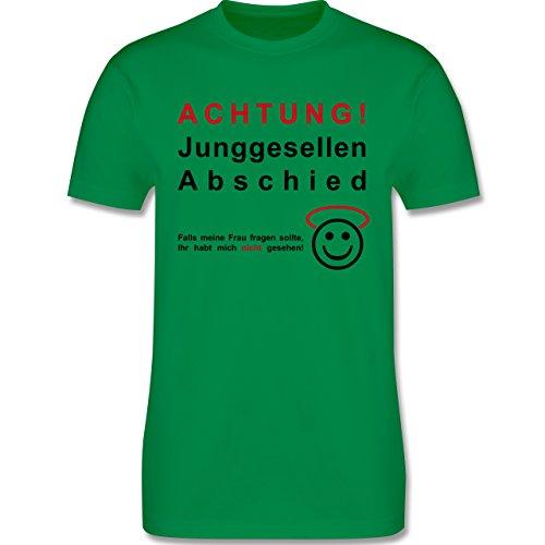 JGA Junggesellenabschied - Achtung Junggesellenabschied - Herren Premium T-Shirt Grün
