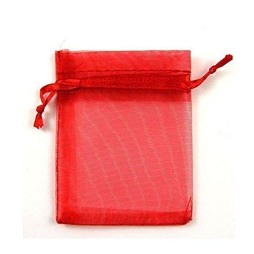 100�sacchetti in organza, ideali per matrimoni da weddingdirect. com, red by Bestmall