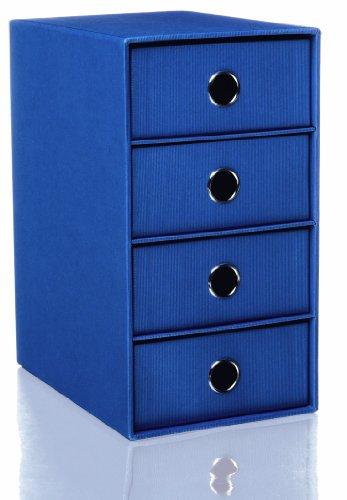 Rössler S.o.h.o. Schubladenbox mit 4 Schubladen blau