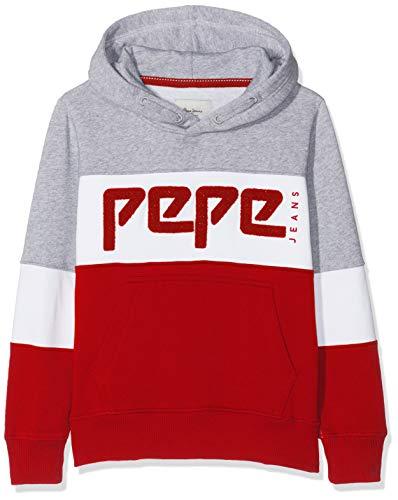 Pepe Jeans Jungen Telmo Pb581065 Sweatshirt, Rot (Flame 265), 10-11 (Herstellergröße: 140/10 Jahre)