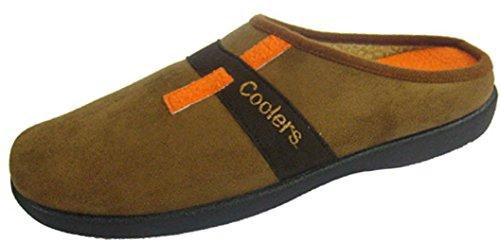Coolers - Zapatillas de estar por casa para hombre, color marrón, talla 46