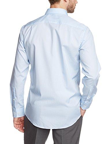Seidensticker - Chemisier Business - Col Chemise Classique - Manches Longues Homme Bleu - Blau (hellblau 48)