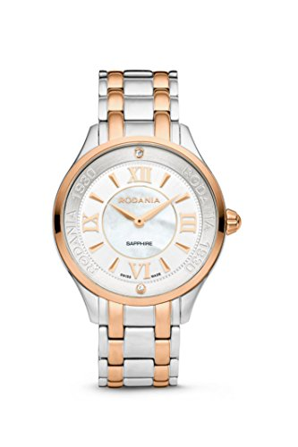 RODANIA - Star Diamond Damenuhr, rosé-bicolor Ø 34 mm