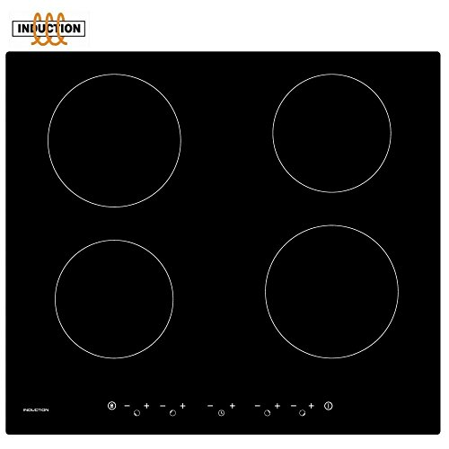 41n26SY6udL. SS500  - Cookology Built-in Electric Fan Forced Oven & 60cm Touch Control 4 Zone Induction Hob Pack (Stainless Steel)