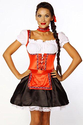 Heels-Perfect, Mules pour Femme noir/rouge/blanc