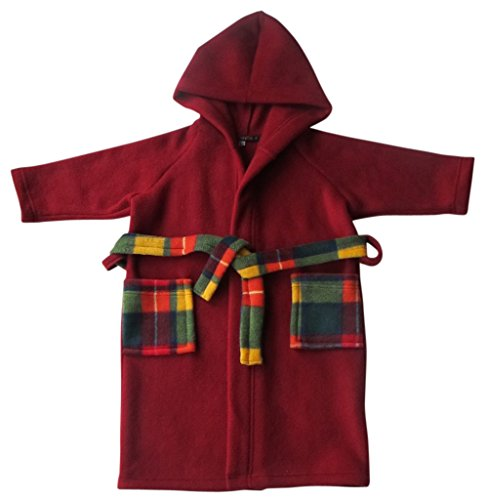 tdg202-cozybear-bacche-rosse-in-pile-accappatoio-con-tartan-trim-rosso-berry-red-with-tartan-trim-9-
