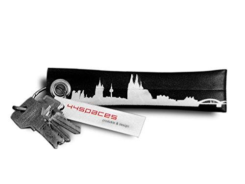 Schlüsselanhänger KÖLN aus recycletem Fahrradschlauch - CITY TUBE von 44spaces