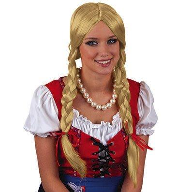 Seiler24 Blonde Gretchen Perücke mit Zöpfen